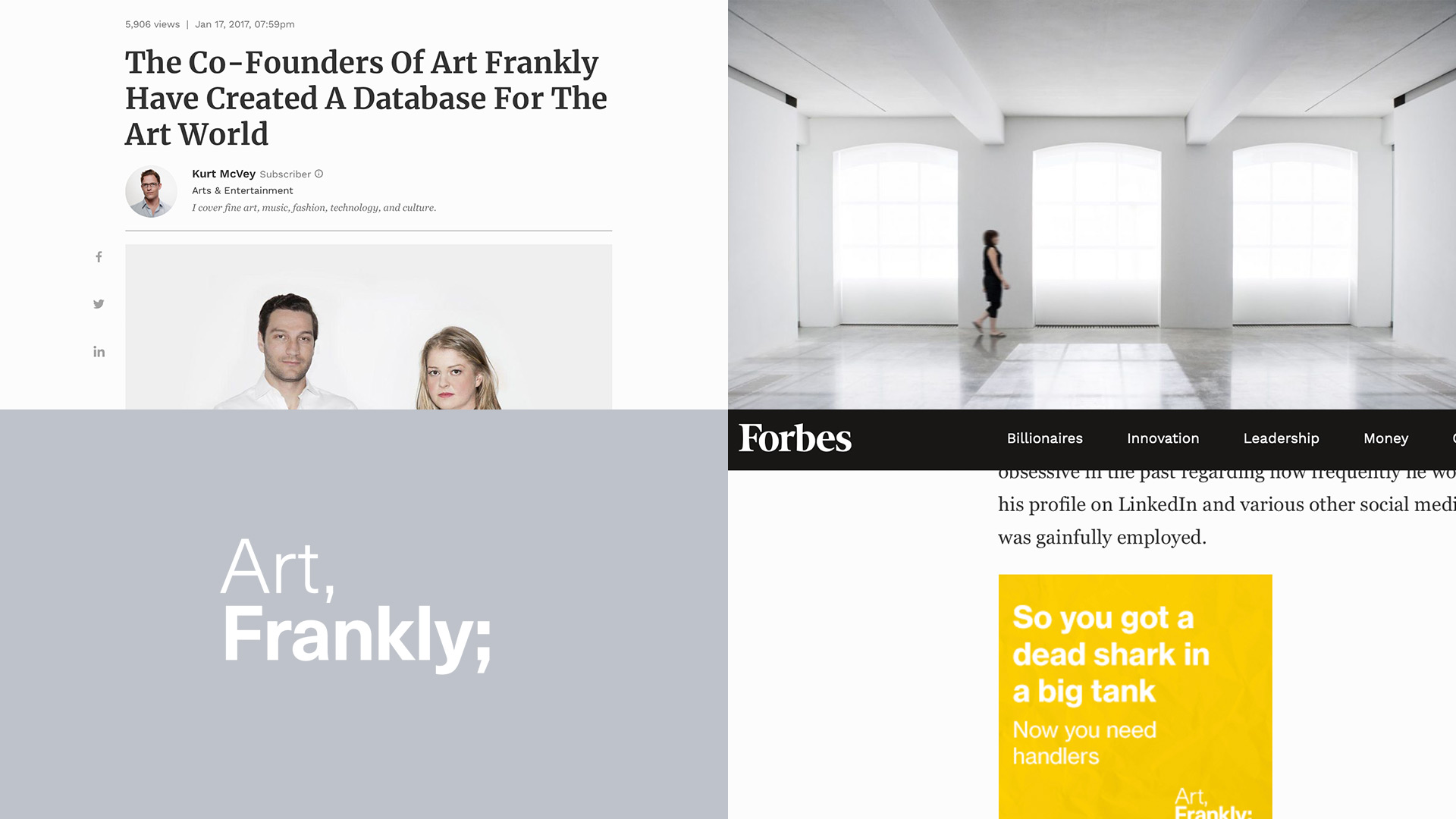 Art Frankly - Kampagne - Stats