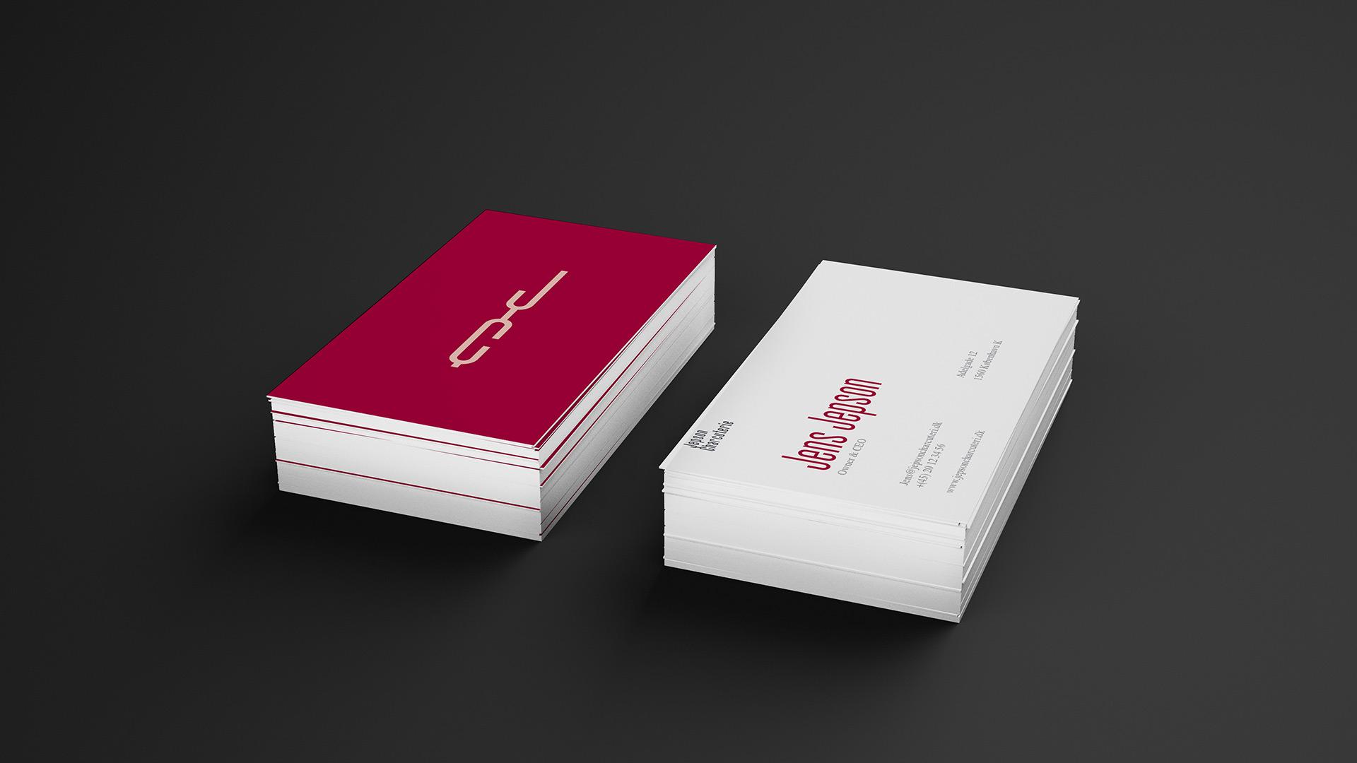 Jepson Charcuteri - Visual Identity - Visitkort