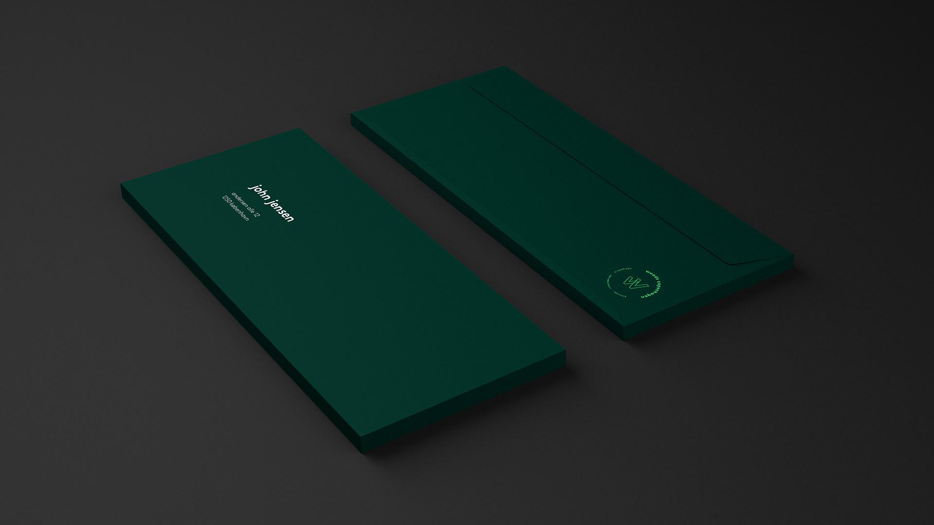 Tetris - Woods - Visuel identitet - Kuvert
