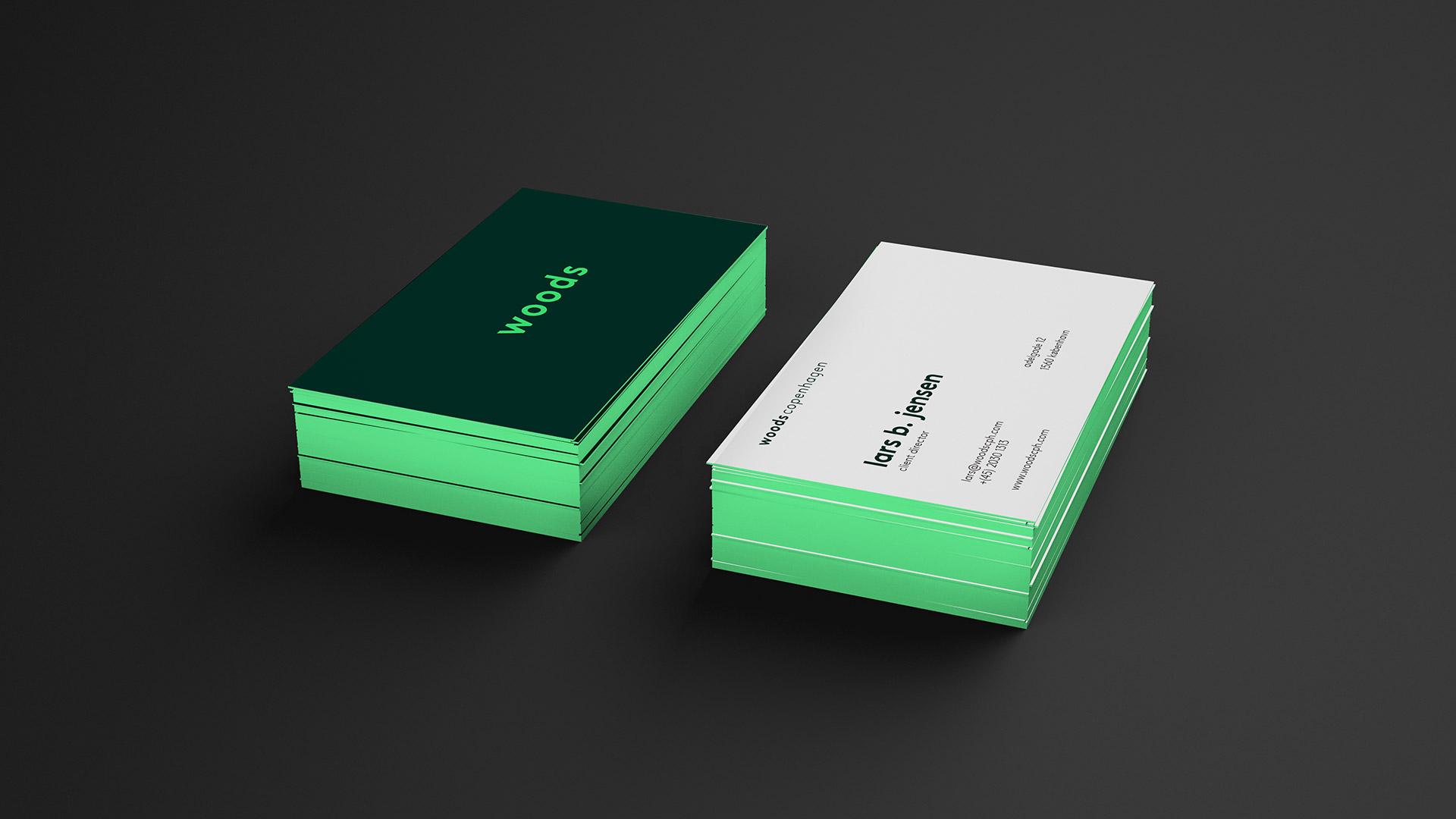 Tetris - Woods - Visuel identitet - Visitkort